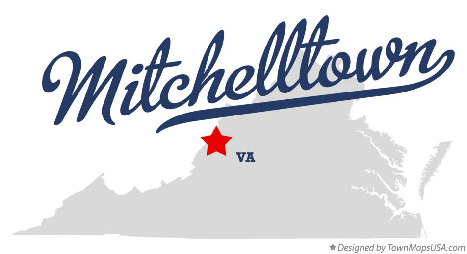 Map of Mitchelltown Virginia VA