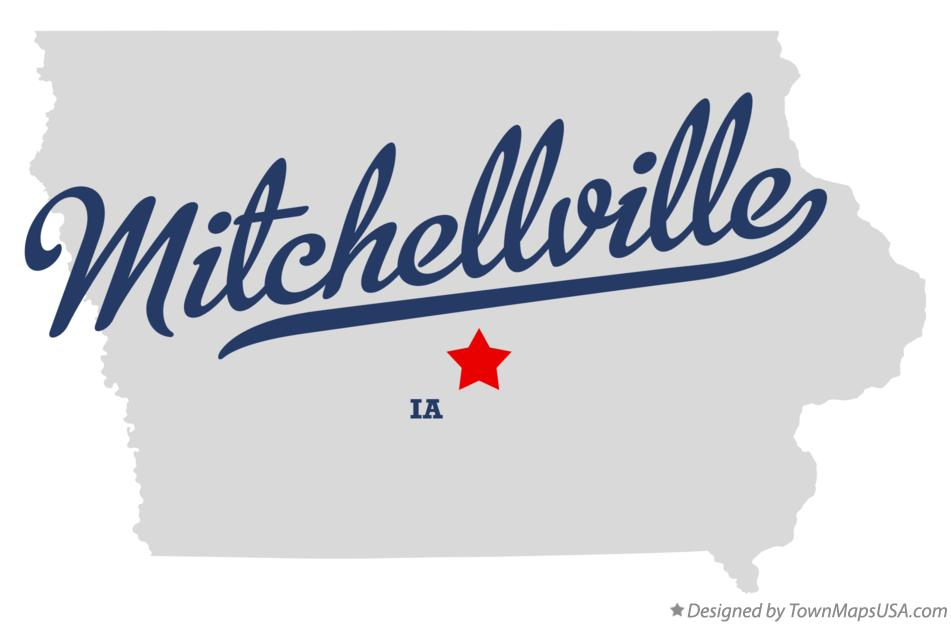Map of Mitchellville Iowa IA