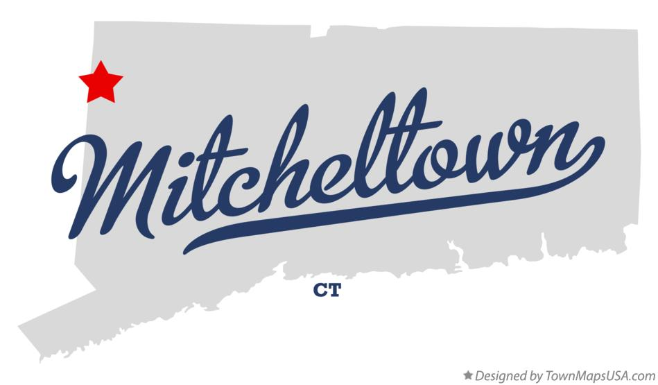 Map of Mitcheltown Connecticut CT