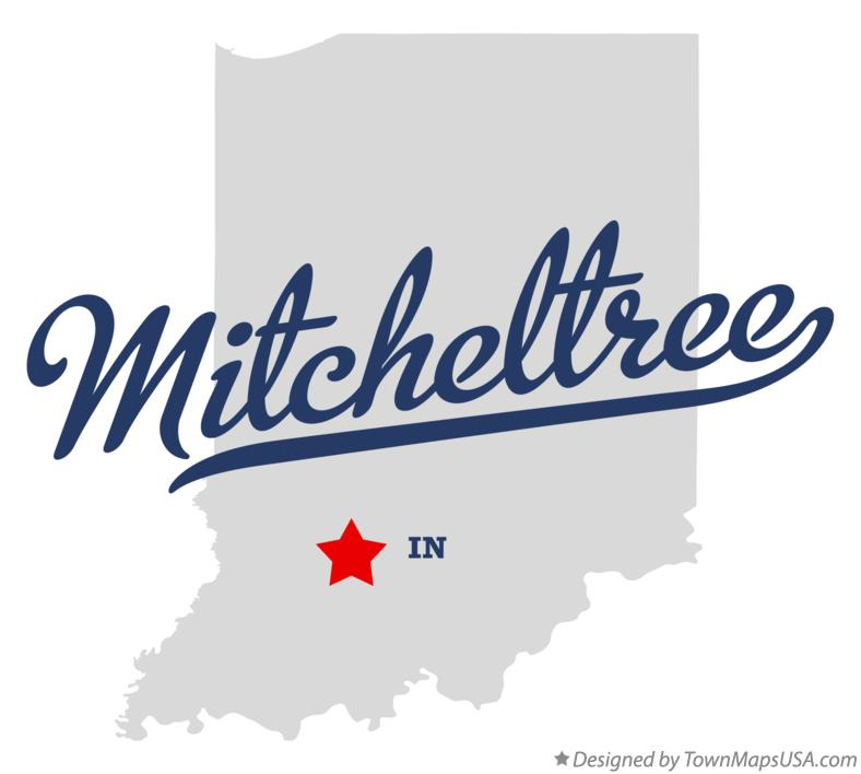 Map of Mitcheltree Indiana IN