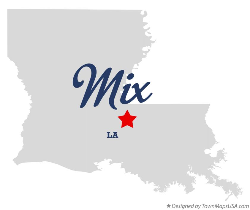 Map of Mix Louisiana LA