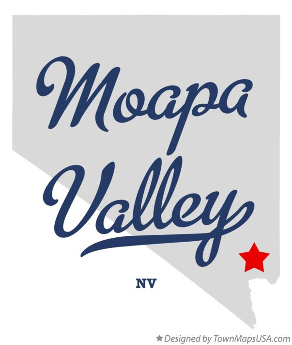 Map of Moapa Valley Nevada NV