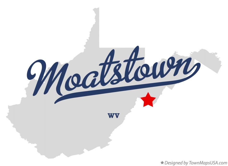 Map of Moatstown West Virginia WV