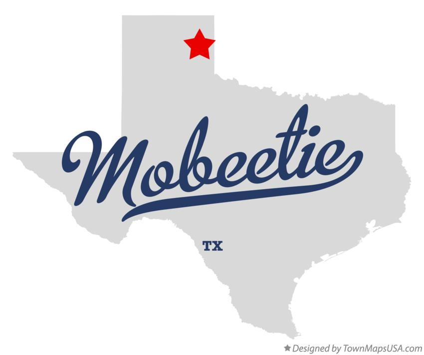 Map of Mobeetie Texas TX