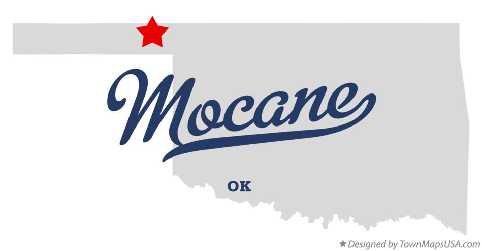 Map of Mocane Oklahoma OK