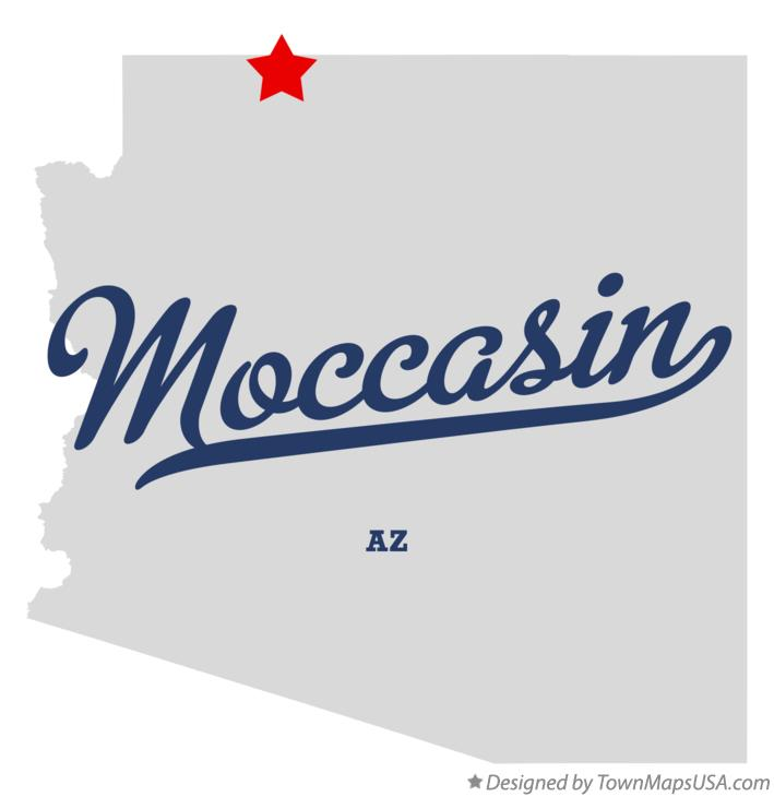 Map of Moccasin Arizona AZ