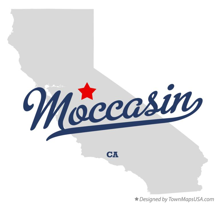 Map of Moccasin California CA