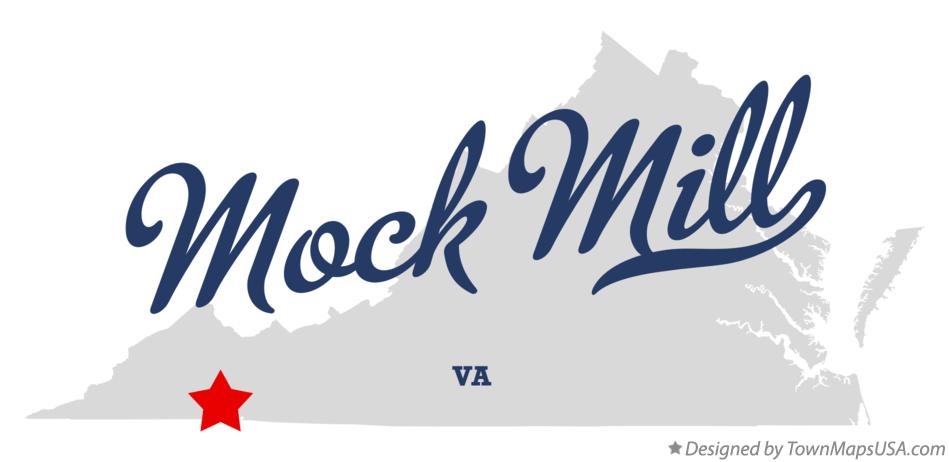Map of Mock Mill Virginia VA