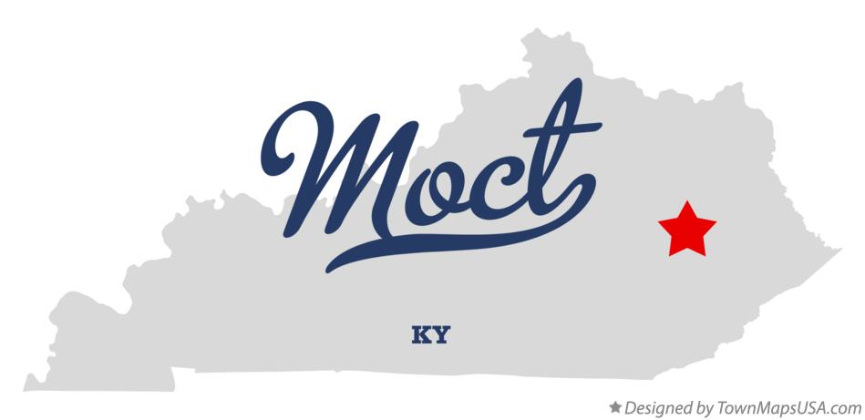 Map of Moct Kentucky KY