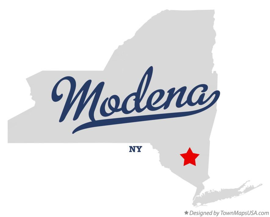 Map of Modena New York NY