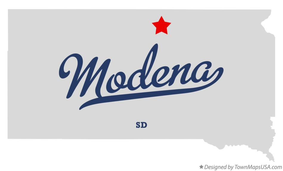 Map of Modena South Dakota SD