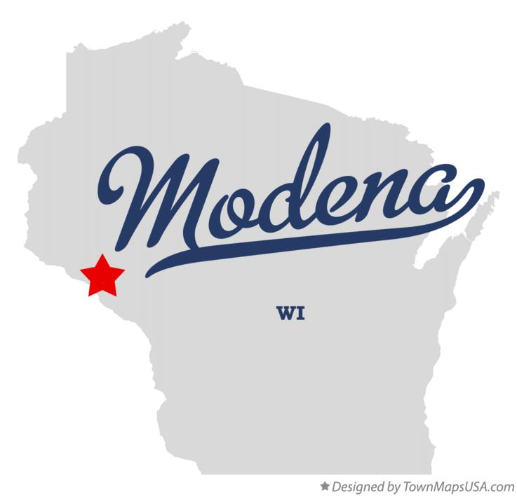 Map of Modena Wisconsin WI