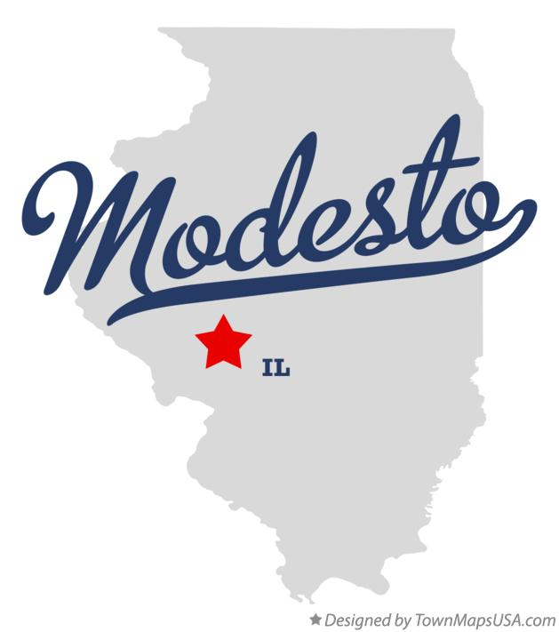 Map of Modesto Illinois IL