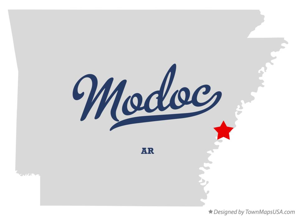 Map of Modoc Arkansas AR