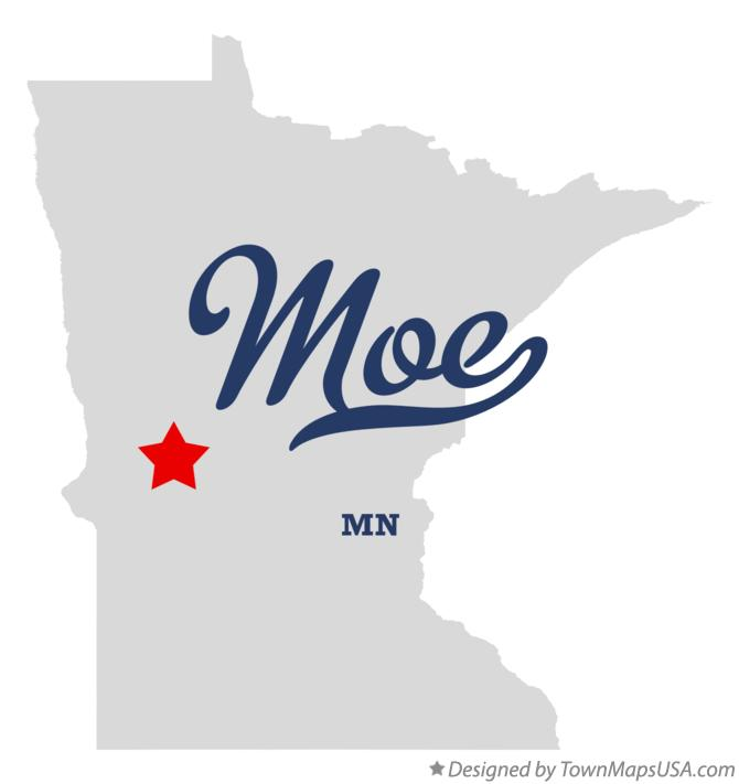 Map of Moe Minnesota MN