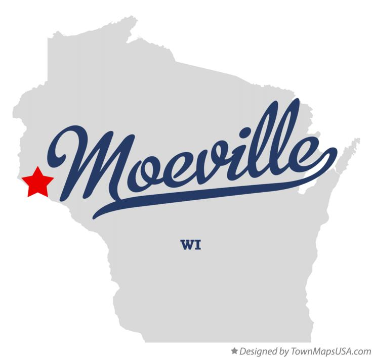 Map of Moeville Wisconsin WI