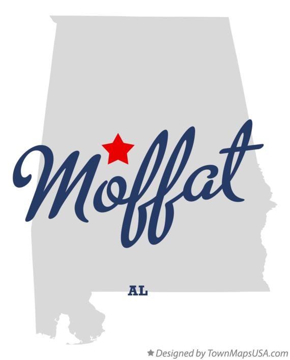 Map of Moffat Alabama AL