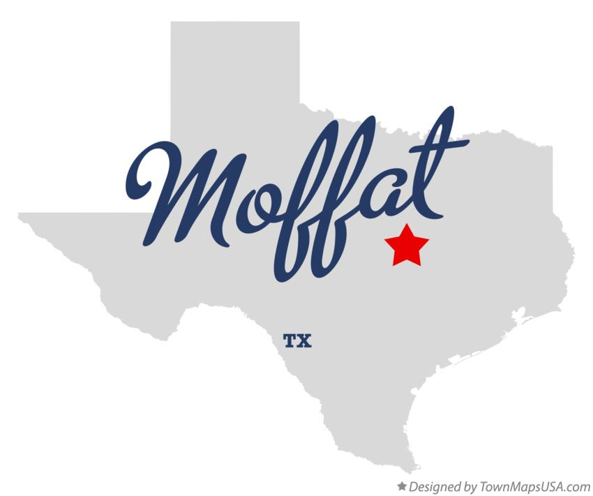 Map of Moffat Texas TX