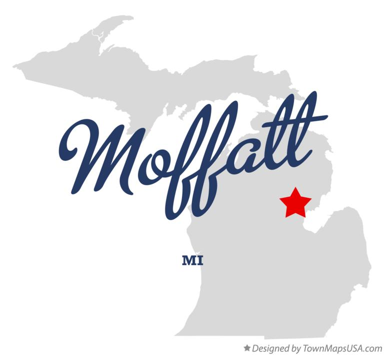 Map of Moffatt Michigan MI