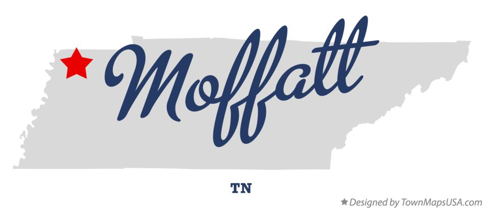 Map of Moffatt Tennessee TN