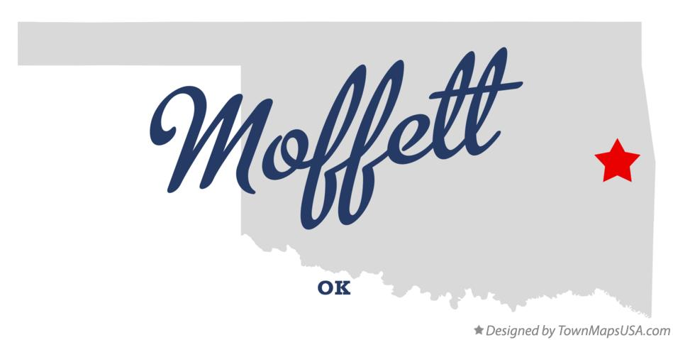 Map of Moffett Oklahoma OK