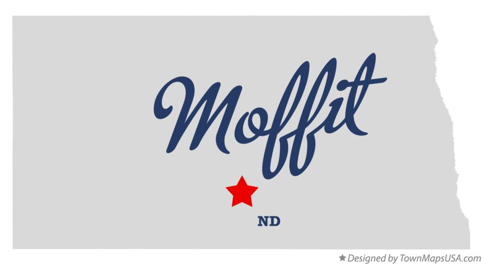 Map of Moffit North Dakota ND