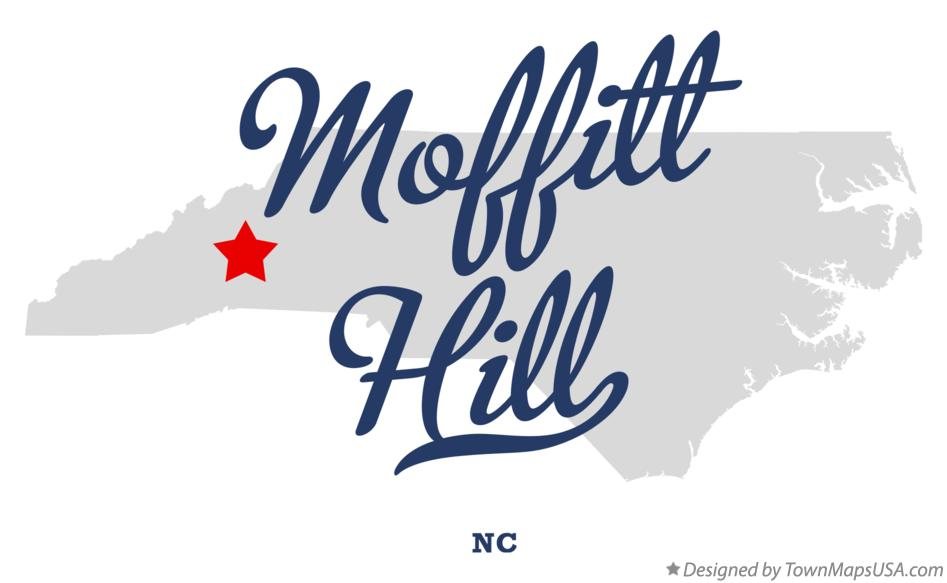Map of Moffitt Hill North Carolina NC