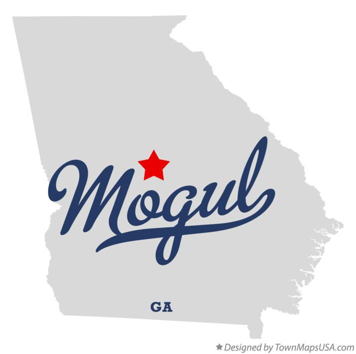 Map of Mogul Georgia GA