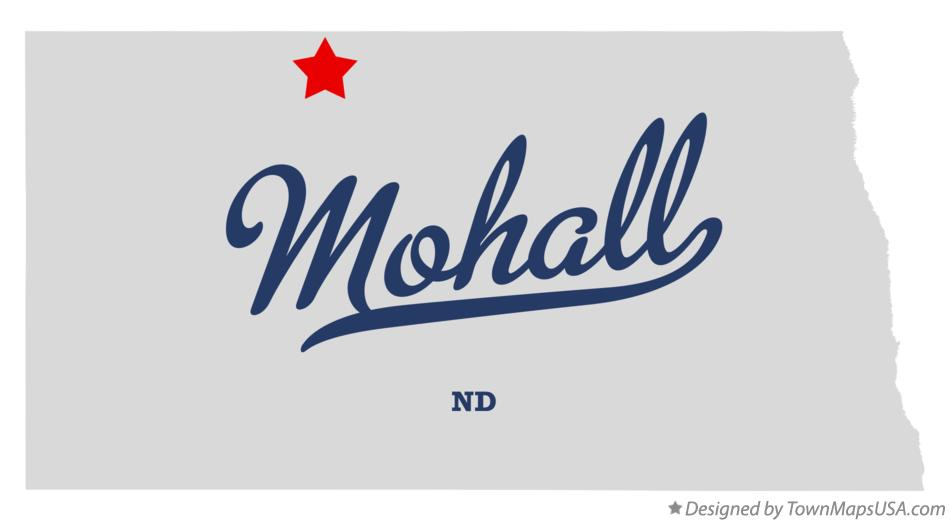 Map of Mohall North Dakota ND