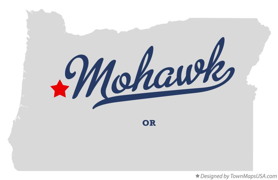 Map of Mohawk Oregon OR