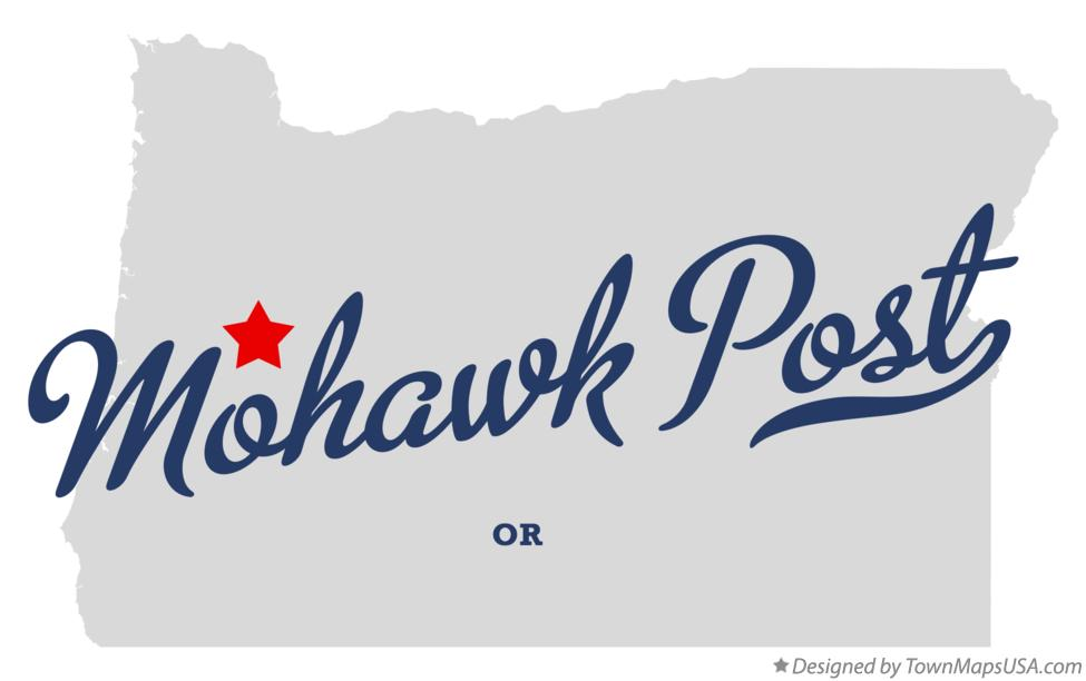 Map of Mohawk Post Oregon OR