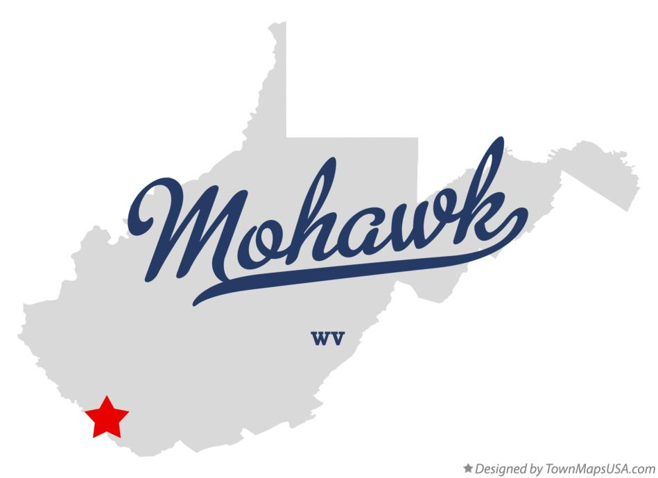 Map of Mohawk West Virginia WV