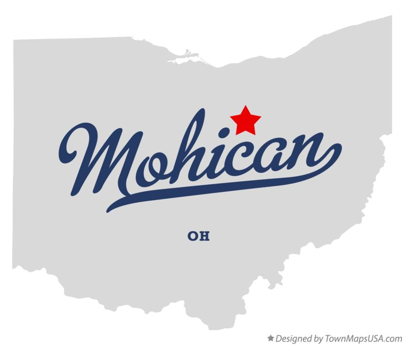 Map of Mohican Ohio OH