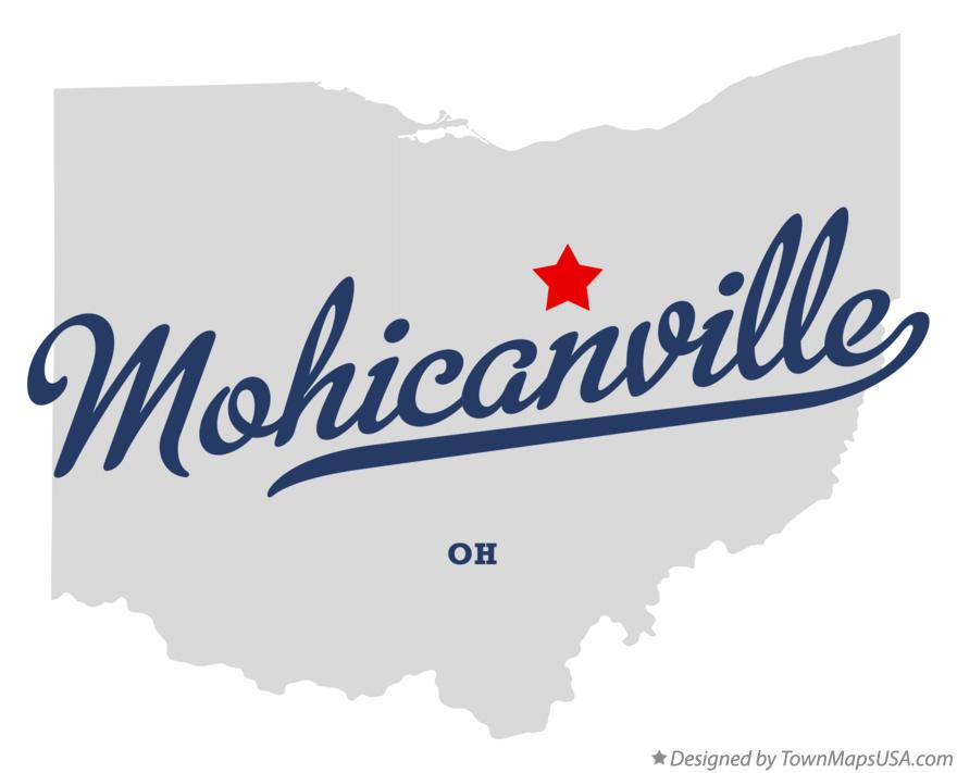 Map of Mohicanville Ohio OH