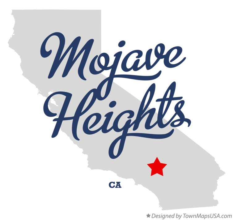 Map of Mojave Heights California CA