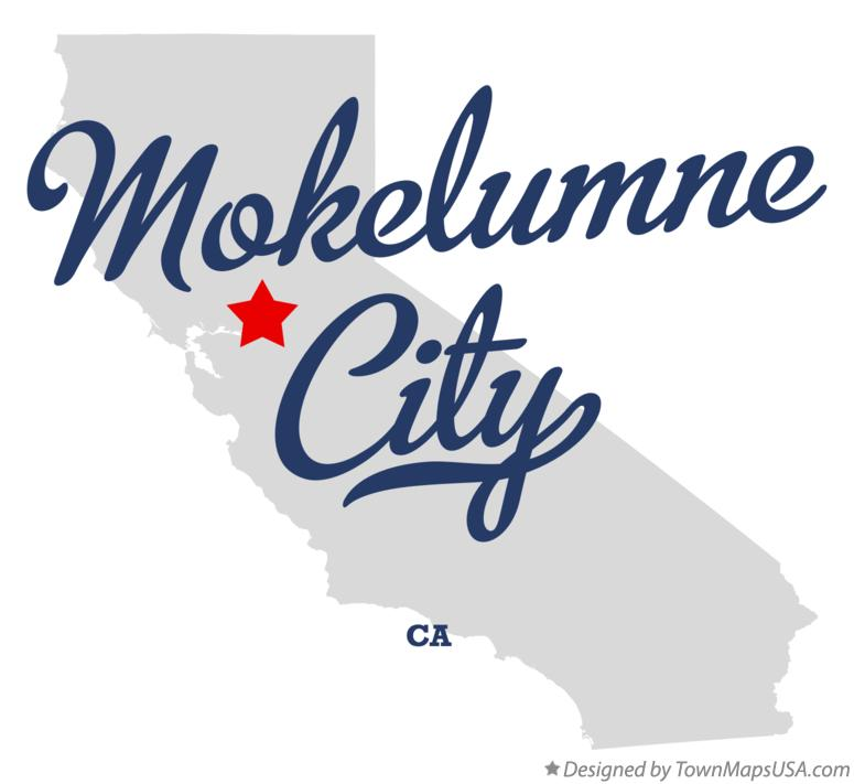 Map of Mokelumne City California CA