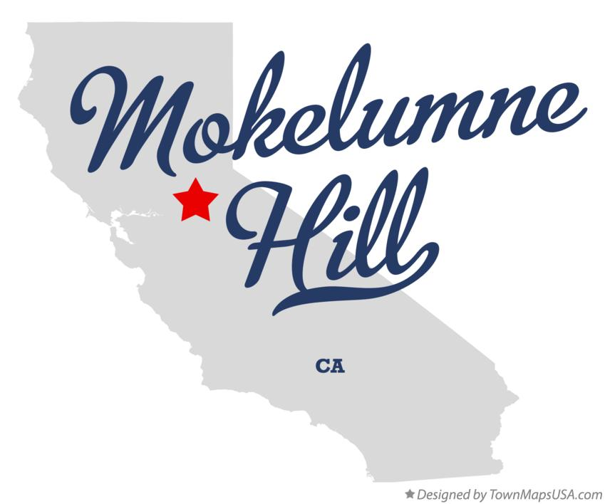 Map of Mokelumne Hill California CA