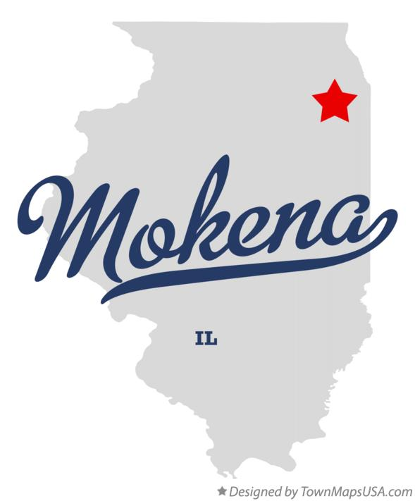 Map of Mokena Illinois IL