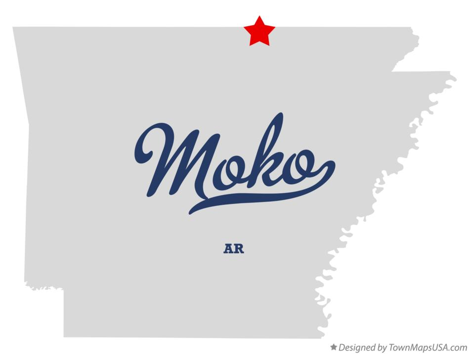 Map of Moko Arkansas AR