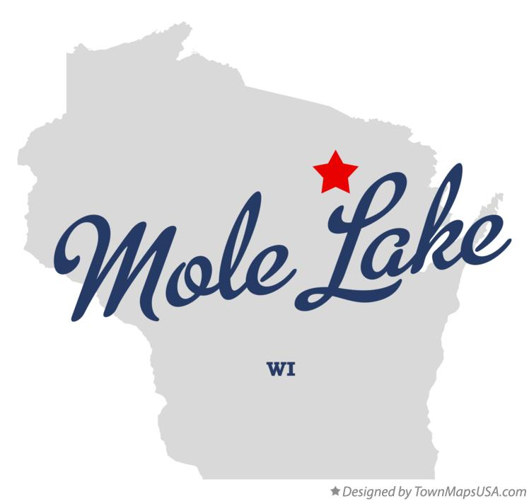 Map of Mole Lake Wisconsin WI