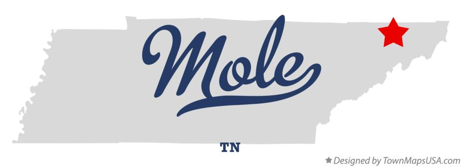 Map of Mole Tennessee TN
