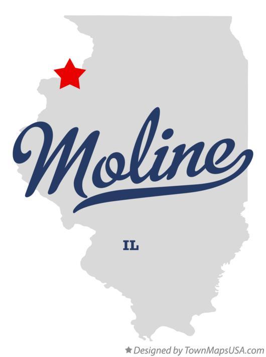 Map Of Moline Il Illinois
