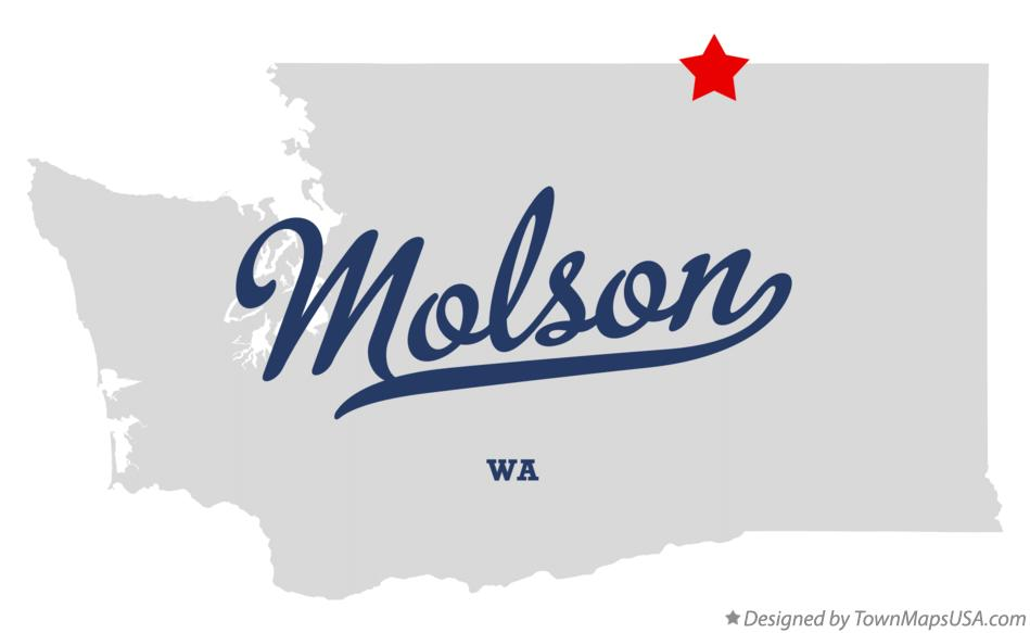 Map of Molson Washington WA