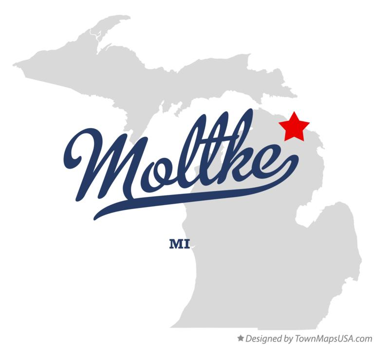 Map of Moltke Michigan MI