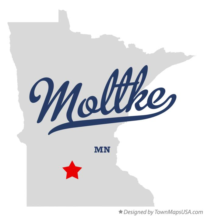 Map of Moltke Minnesota MN