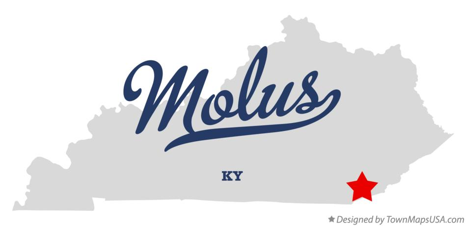 Map of Molus Kentucky KY