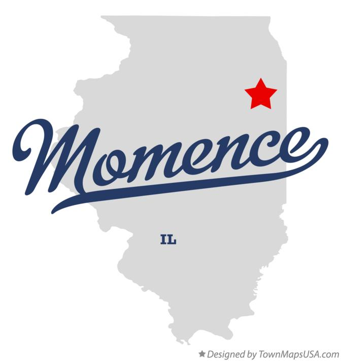 Map of Momence Illinois IL