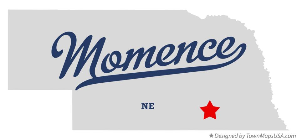 Map of Momence Nebraska NE
