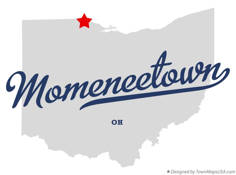 Map of Momeneetown Ohio OH
