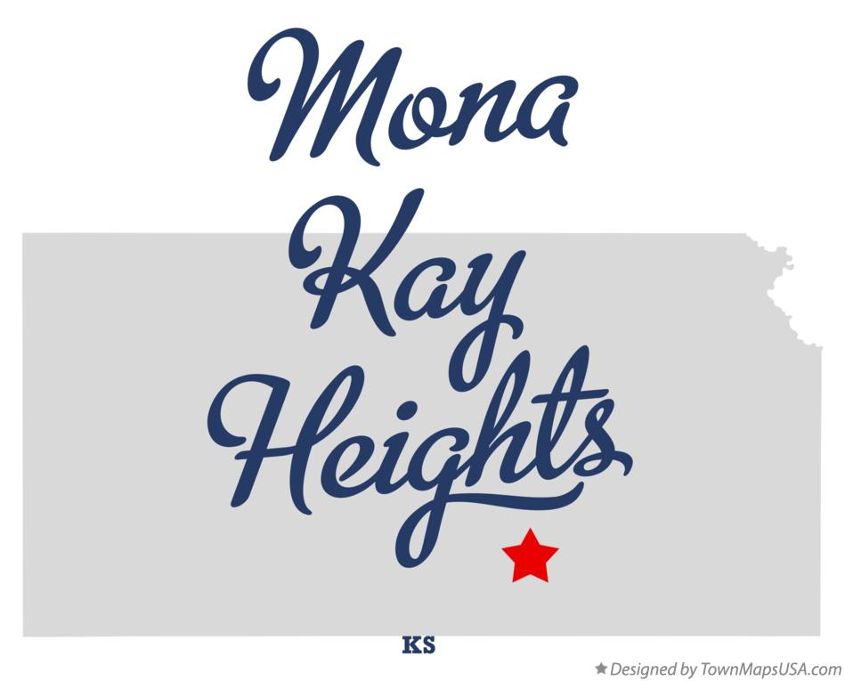 Map of Mona Kay Heights Kansas KS